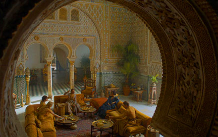 Prince Doran Martell receives Jaime Lannister in the Ambassadors' Hall